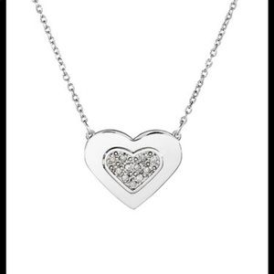 Adina Reyter Pave Heart Sterling Silver Necklace